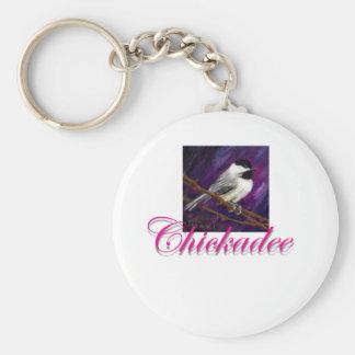 Chickadee Design Key Chains