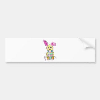 Chickadee Easter Bunny Bumper Sticker
