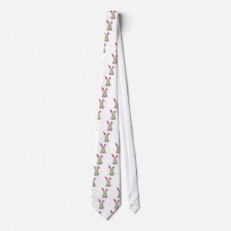 Chickadee Easter Bunny Neck Tie