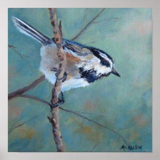 Chickadee Fine Art Bird Poster print