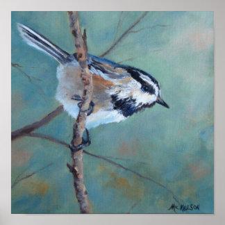 Chickadee Fine Art Bird Poster