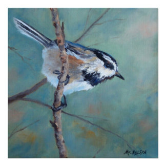 Chickadee Fine Art Bird Print