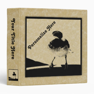 Chickadee for Bird and Nature Lovers 3 Ring Binder