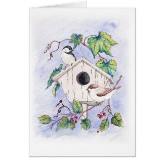 Chickadee Greeting Card Blank Inside