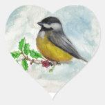 chickadee heart sticker