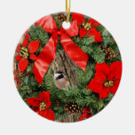 chickadee in a wreath christmas ornament