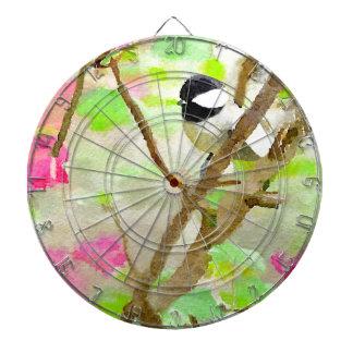 Chickadee in Cherry Tree Dartboard