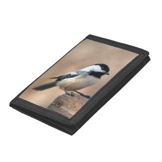 Chickadee in Golden Light Tri-fold Wallet