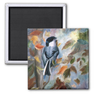 Chickadee In the Fall Magnet