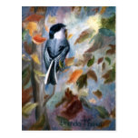 Chickadee In the Fall Postcard