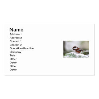 Chickadee in the Snow Business Card Template