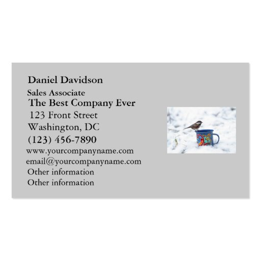 Chickadee in the Snow Business Card Templates