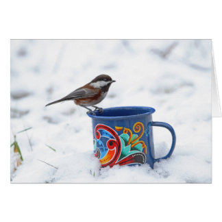 Chickadee in the Snow Card