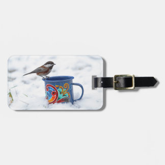 Chickadee in the Snow Tags For Luggage