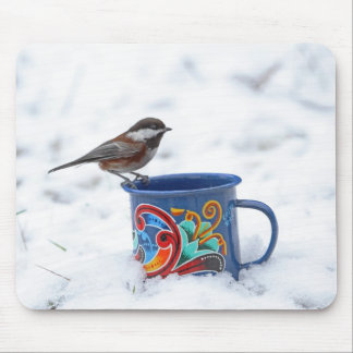 Chickadee in the Snow Mouse Pad