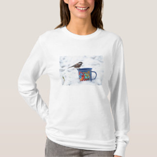 Chickadee in the Snow T-Shirt