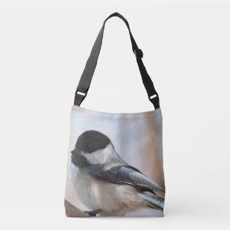 Chickadee in the spring crossbody bag