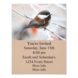 Chickadee in Winter 4.25x5.5 Paper Invitation Card