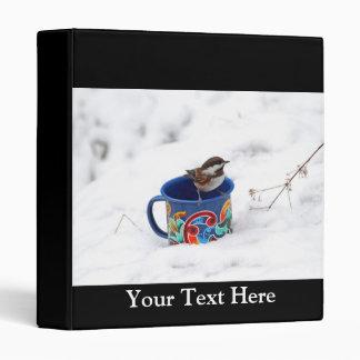 Chickadee in Winter Photo Binder