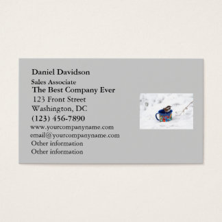 Chickadee in Winter Photo Business Card