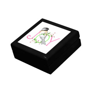 Chickadee Joy Holiday Jewelry Box