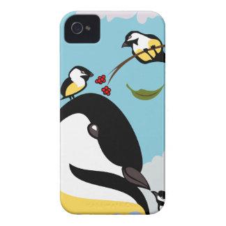 Chickadee Luv iPhone 4 Fundas