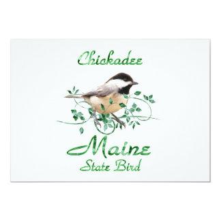 Chickadee Maine State Bird Card