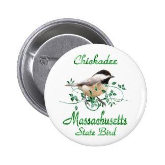 Chickadee Massachusetts State Bird Button