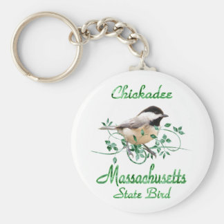 Chickadee Massachusetts State Bird Keychains