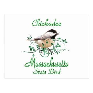 Chickadee Massachusetts State Bird Postcard