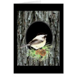 Chickadee, Nature,Scripture Blessing, Psalm 33:5 Card