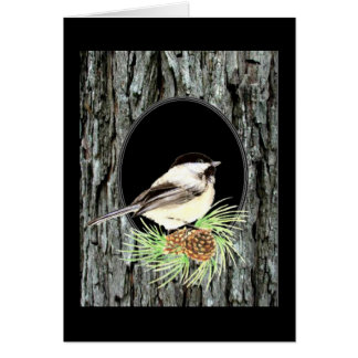 Chickadee, Nature,Scripture Blessing, Psalm 33:5 Greeting Card