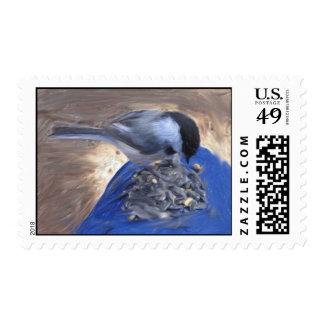 chickadee_on_my_knee postage stamps