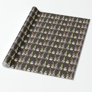 chickadee party wrapping paper