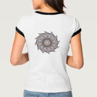 Chickadee Pattern Women's Ringer T-Shirt