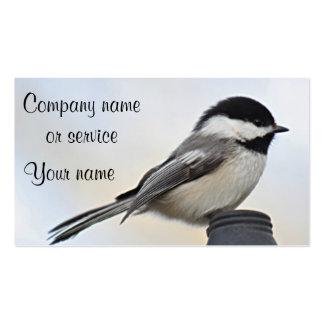 Chickadee photo business card