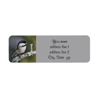 Chickadee photo return address label