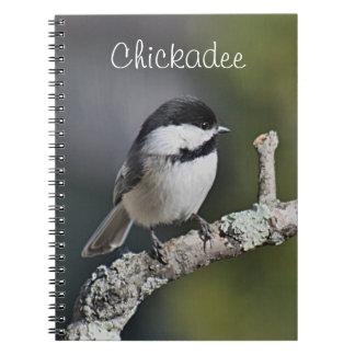 Chickadee photo notebook