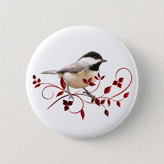 Chickadee Pinback Button