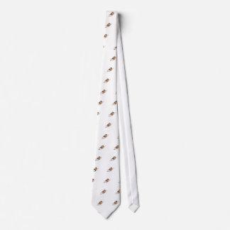 Chickadee Pyrography Tie