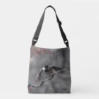 Chickadee ready to fly crossbody bag