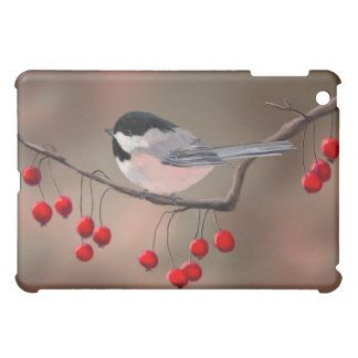 CHICKADEE & RED BERRIES by SHARON SHARPE iPad Mini Case