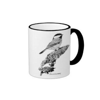 Chickadee Ringer Mug