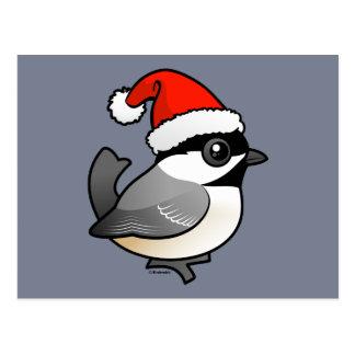 Chickadee Santa Tarjeta Postal
