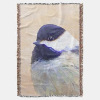 Chickadee Throw Blanket