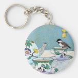 Chickadee to Tea Key Chain