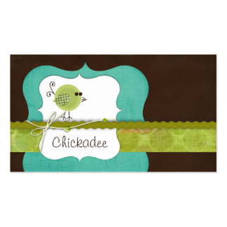 Chickadee {turquoise} Business Cards