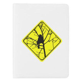 Chickadee Warning Sign Love Bird Watching Extra Large Moleskine Notebook