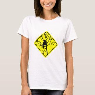 Chickadee Warning Sign Love Bird Watching T-Shirt