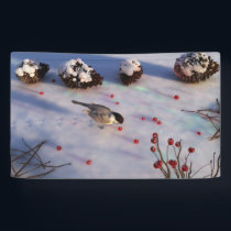 Chickadee Winter Banner